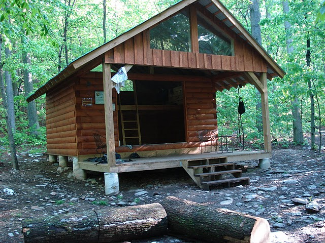 Simply deer lick shelter on appalachian trail that
