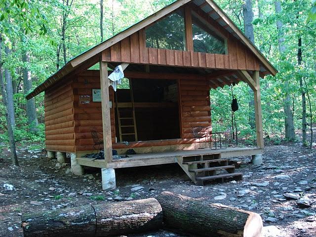 Deer lick shelter on appalachian trail